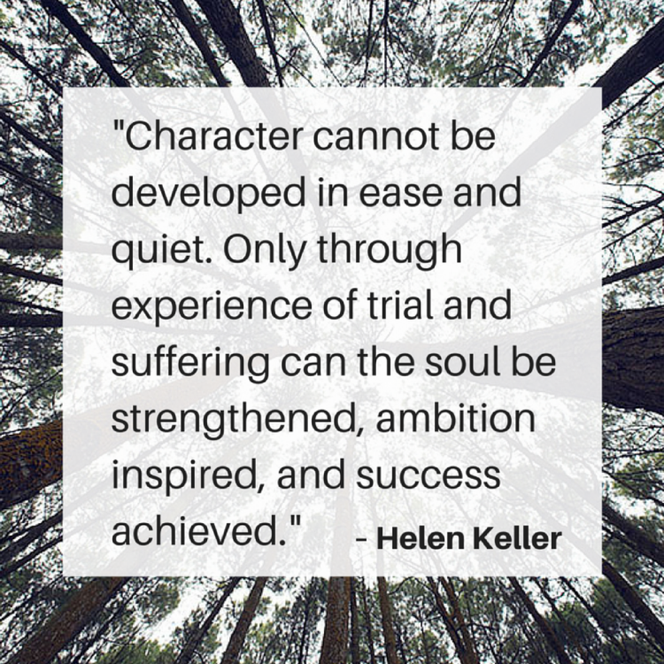 Scott Clodfelter - Helen Keller Quote - Inst